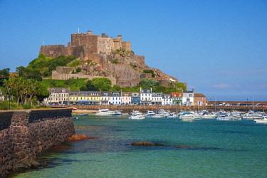 UK707RF United KIngdom, Channel Islands, Gorey, Mont Orgueil Castle or Gorey Castle