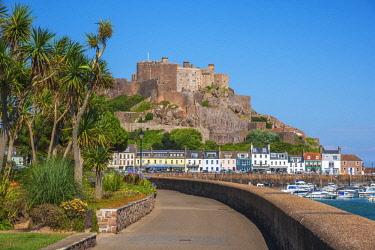 UK708RF United KIngdom, Channel Islands, Gorey, Mont Orgueil Castle or Gorey Castle