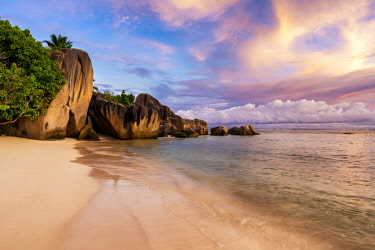 CLKAC93265 Anse Source d'Argent beach, La Digue island, Seychelles, Africa
