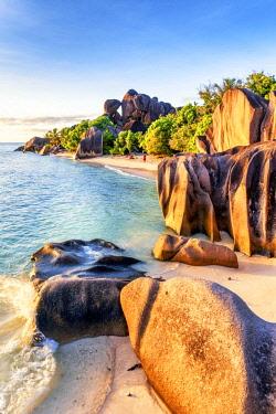 CLKAC93276 Anse Source d'Argent beach, La Digue island, Seychelles, Africa