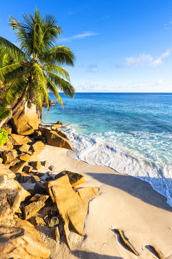 CLKAC93314 Anse Patates beach, La Digue, Seychelles, Africa