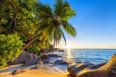 CLKAC93409 Anse Georgette, Praslin island, Seychelles, Africa