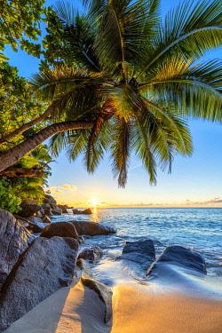 CLKAC93411 Anse Georgette, Praslin island, Seychelles, Africa