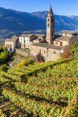 CLKFV94309 San Giorgio Church, Montagna in Valtellina, Sondrio, Lombardy, Italy