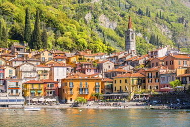CLKGA94871 Picturesque village of Varenna, located on the eastern shore of Lake Como, Lecco province, Lombardy, Italy