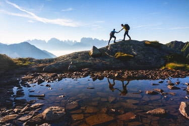 CLKMR93027 Mountain moments in Adamello Brenta Natural park in Trentino alto Adige, Italy.