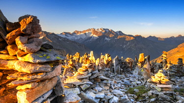 CLKSS93415 Peterskopfl at sunrise. Europe, Austria, Zillertal, Peterskopfl, Keisergebirge