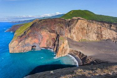 CLKFV89567 Portugal, Azores, Faial, Ponta dos Capelinhos, View of the Capelinhos Volcano.