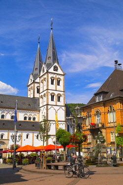 GER11130AW St Severus Church in Market Square, Boppard, Rhineland-Palatinate, Germany