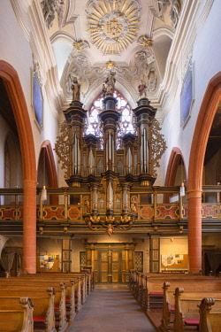 GER11172AW Interior of St Sebastian's Church, Limburg, Hesse, Germany