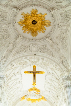 GER11238AW Ceiling of the Dom (Cathedral), Wurzburg, Bavaria, Germany