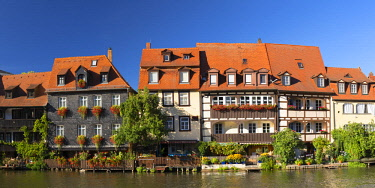 GER11291AW Houses of Klein Venedig (Little Venice) along River Regnitz, Bamberg (UNESCO World Heritage Site), Bavaria, Germany