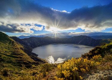ECU1428AW Lake Quilotoa, Cotopaxi Province, Ecuador