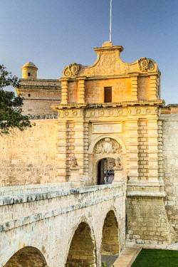 MT01137 Malta, Malta, Mdina (Rabat) Old Walled Town, Mdina Gate
