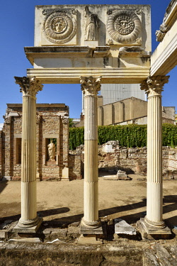 SPA8533AWRF Portico of the Roman Forum in Merida, Spain
