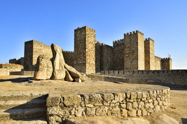 SPA8539AWRF The castle of Trujillo dating back to the 9th-12th centuries stands at the highest point of the town. It was raised over the remains of an old moorish citadel. Trujillo, Spain