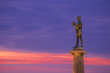 SB010RF Serbia, Belgrade, Kalemegdan Park, Victor Monument at Belgrade Fortress