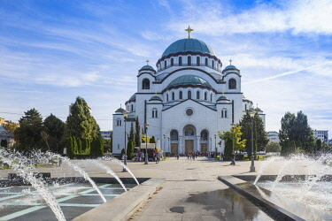 SB01093 Serbia, Belgrade, St Sava Temple - The largest orthodox cathedral in the world