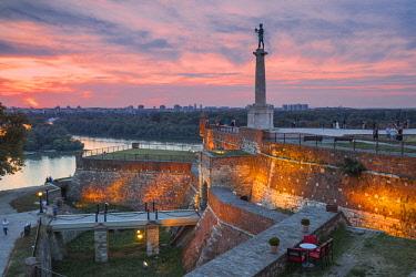 SB01103 Serbia, Belgrade, Kalemegdan Park, Victor Monument at Belgrade Fortress