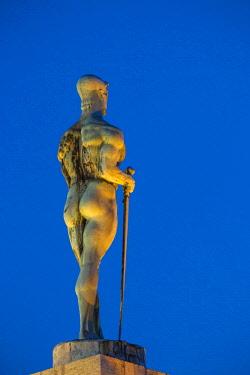 SB01107 Serbia, Belgrade, Kalemegdan Park, Victor Monument at Belgrade Fortress