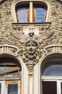 SB01117 Serbia, Belgrade, City center, Art nouveau Smederevska bank building, built 1910-1912