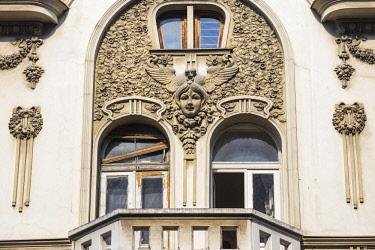 SB01118 Serbia, Belgrade, City center, Art nouveau Smederevska bank building, built 1910-1912