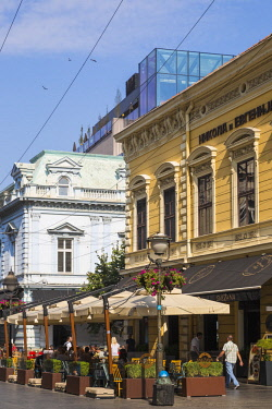 SB01119 Serbia, Belgrade, Knez Mihailova Street the main pedestrianised st in the heart of Stari Grad - the Old Town