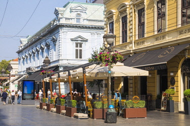SB01120 Serbia, Belgrade, Knez Mihailova Street the main pedestrianised st in the heart of Stari Grad - the Old Town