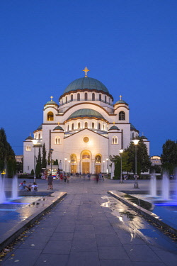 SB01122 Serbia, Belgrade, St Sava Temple - The largest orthodox cathedral in the world