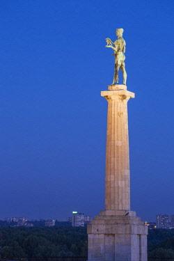 SB01123 Serbia, Belgrade, Kalemegdan Park, Victor Monument at Belgrade Fortress