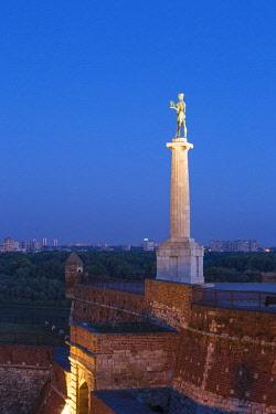 SB01124 Serbia, Belgrade, Kalemegdan Park, Victor Monument at Belgrade Fortress