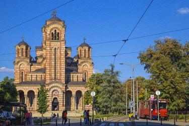 SB01127 Serbia, Belgrade, Tasmajdan Park, St Mark's Church