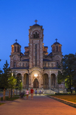 SB01132 Serbia, Belgrade, Tasmajdan Park, St Mark's Church