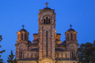 SB01133 Serbia, Belgrade, Tasmajdan Park, St Mark's Church
