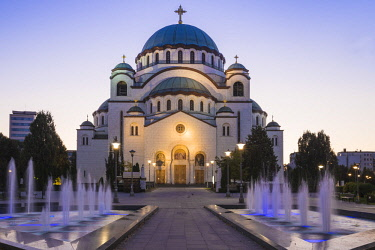 SB01134 Serbia, Belgrade, St Sava Temple - The largest orthodox cathedral in the world