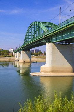 SB01137 Serbia, Belgrade, Stari Savski Most - Old Sava Bridge over Sava river