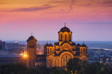SB01143 Serbia, Belgrade View of St Mark's Church