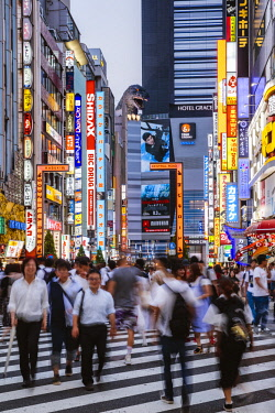 JAP1455AW Kabukicho red light district, Shinjuku, Tokyo, Japan