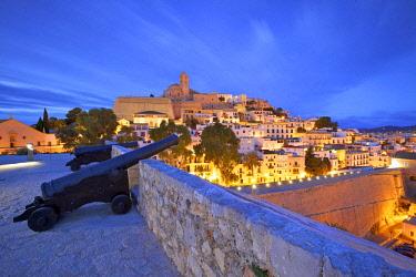 ES08485 View from Baluarte de Santa Llucia to D'Alt Vila, Ibiza, Balearic Islands, Spain