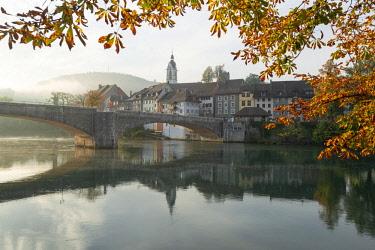 SWI8153AW Laufenburg with river Rhein, Aargau, Switzerland