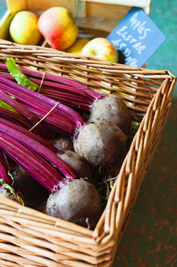 ENG15902 England, Yorkshire Dales, Clapham, Produce from Growing with Grace, organic growers and farm shop