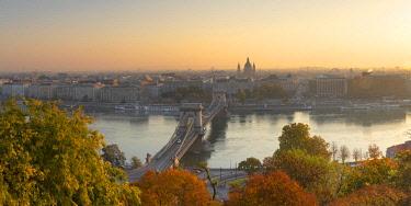HUN1706AWRF View of Budapest at sunrise, Budapest, Hungary