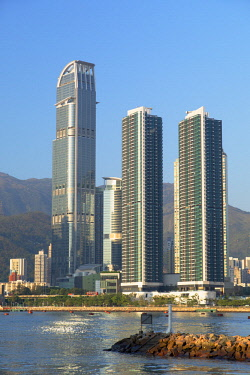 CH11723AW Skyline of Tsuen Wan with Nina Tower, Tsuen Wan, Hong Kong, China