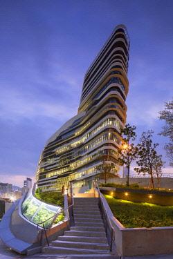 CH11734AW Innovation Tower (designed by Zaha Hadid) of the Hong Kong Polytechnic University, Hung Hom, Kowloon, Hong Kong