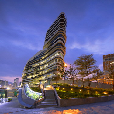 CH11735AW Innovation Tower (designed by Zaha Hadid) of the Hong Kong Polytechnic University, Hung Hom, Kowloon, Hong Kong