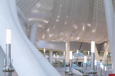 CH11754AW Interior of High Speed Rail Station, West Kowloon, Kowloon, Hong Kong