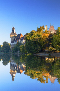 HUN1631AW Vajdahunyad Castle in City Park, Budapest, Hungary