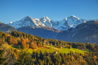 CH02580 Eiger, Monch & Jungfrau mountains, Berner Oberland, Switzerland