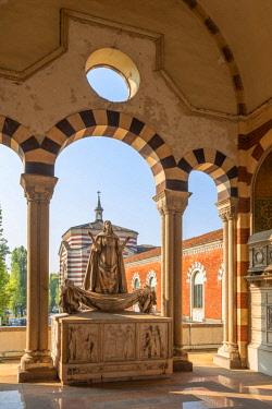 ITA13351AW Monumental cemetry, Milan, Lombardy, Italy