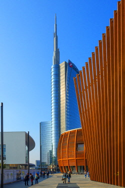 Unicredit tower at Porta Nuova district, Milan, Lombardy, Italy